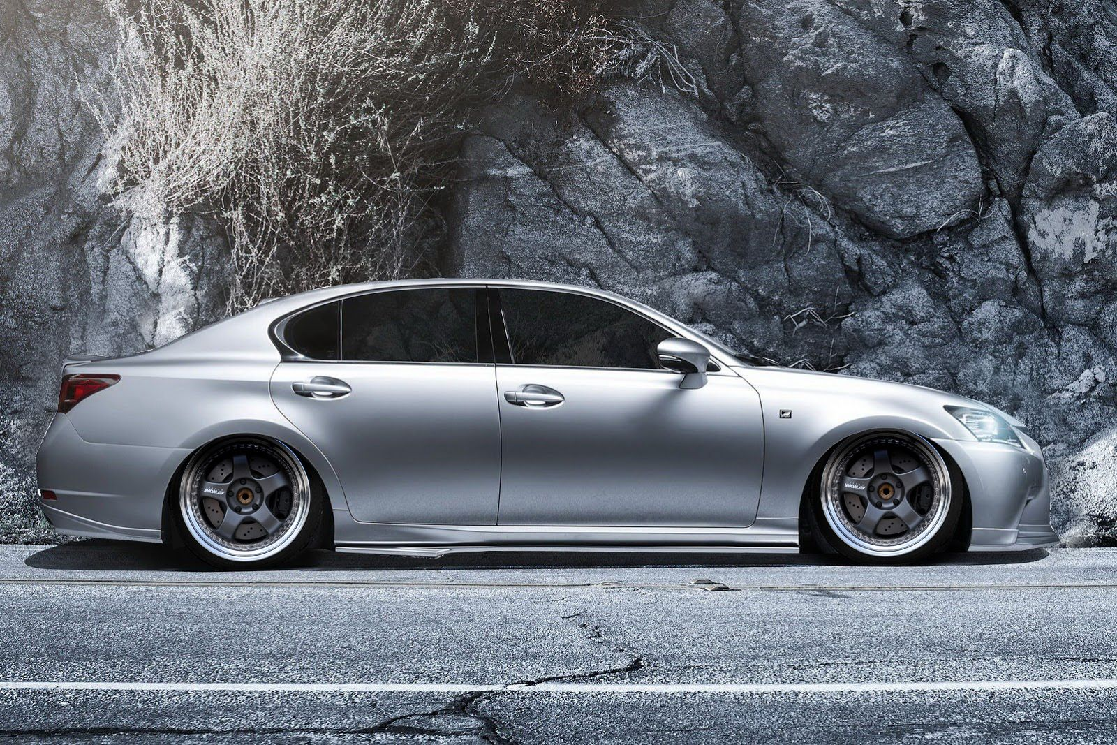 Lexus GS350 Fsport slammed on Work Meister 3pc wheels