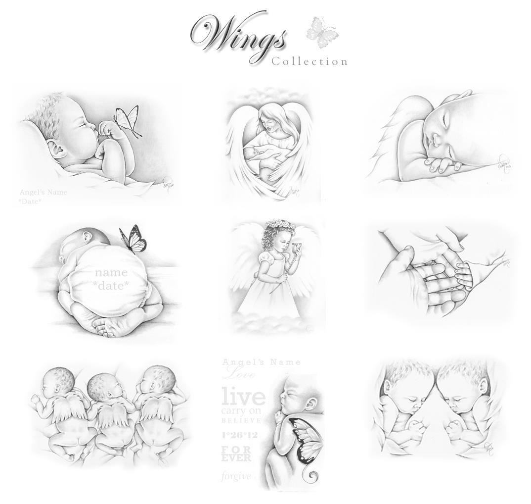 Angel Baby Keepsake Art Early Infant Loss