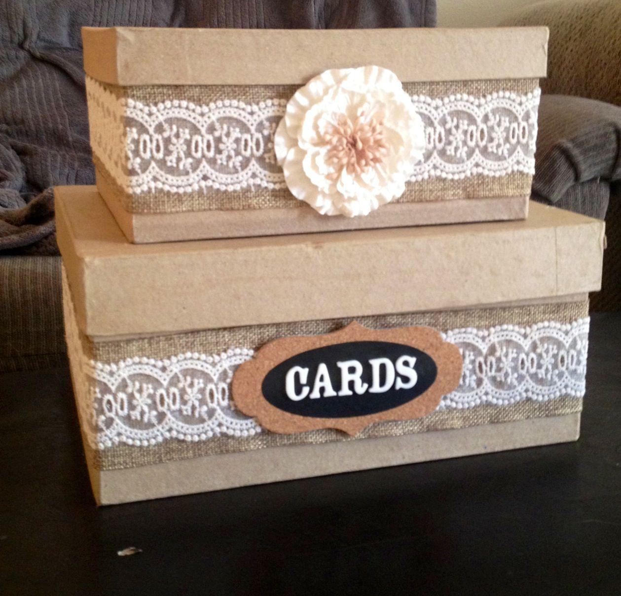 DIY... Country wedding card box!! Wedding Pinterest