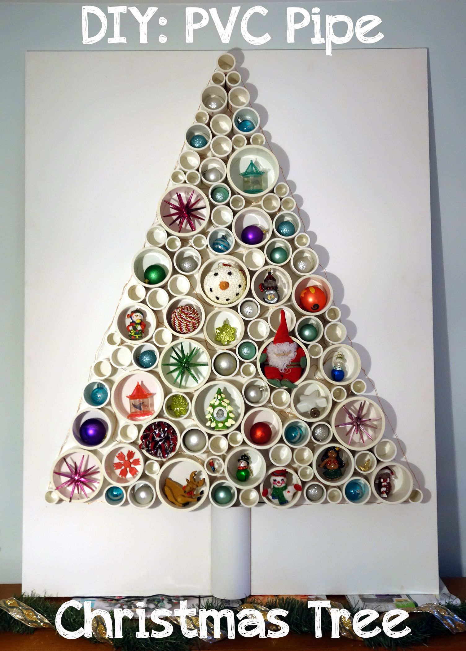 DIY PVC Pipe Christmas Tree Pvc pipe, Pipes and