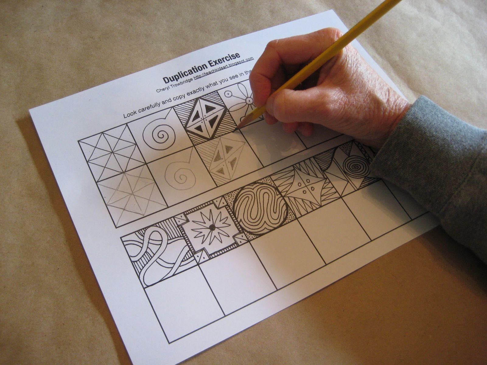 Duplication Exercise Based On Mona Brooks Drawing With