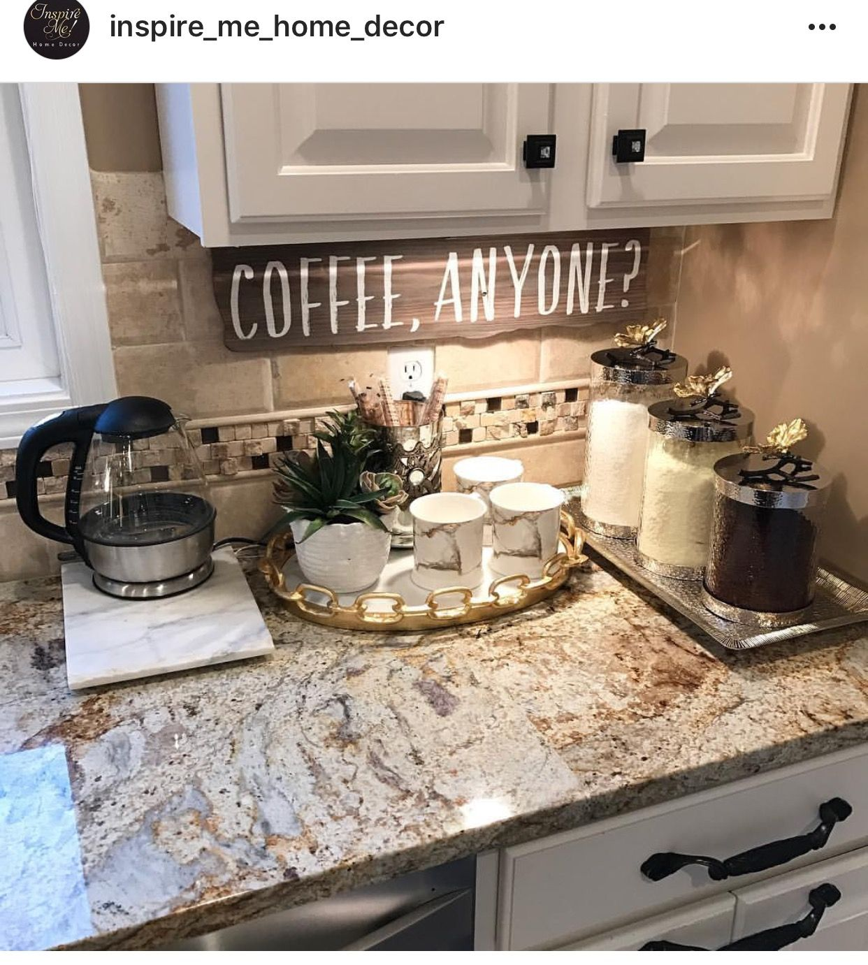 Backsplash and counter top The Home is Where the Heart