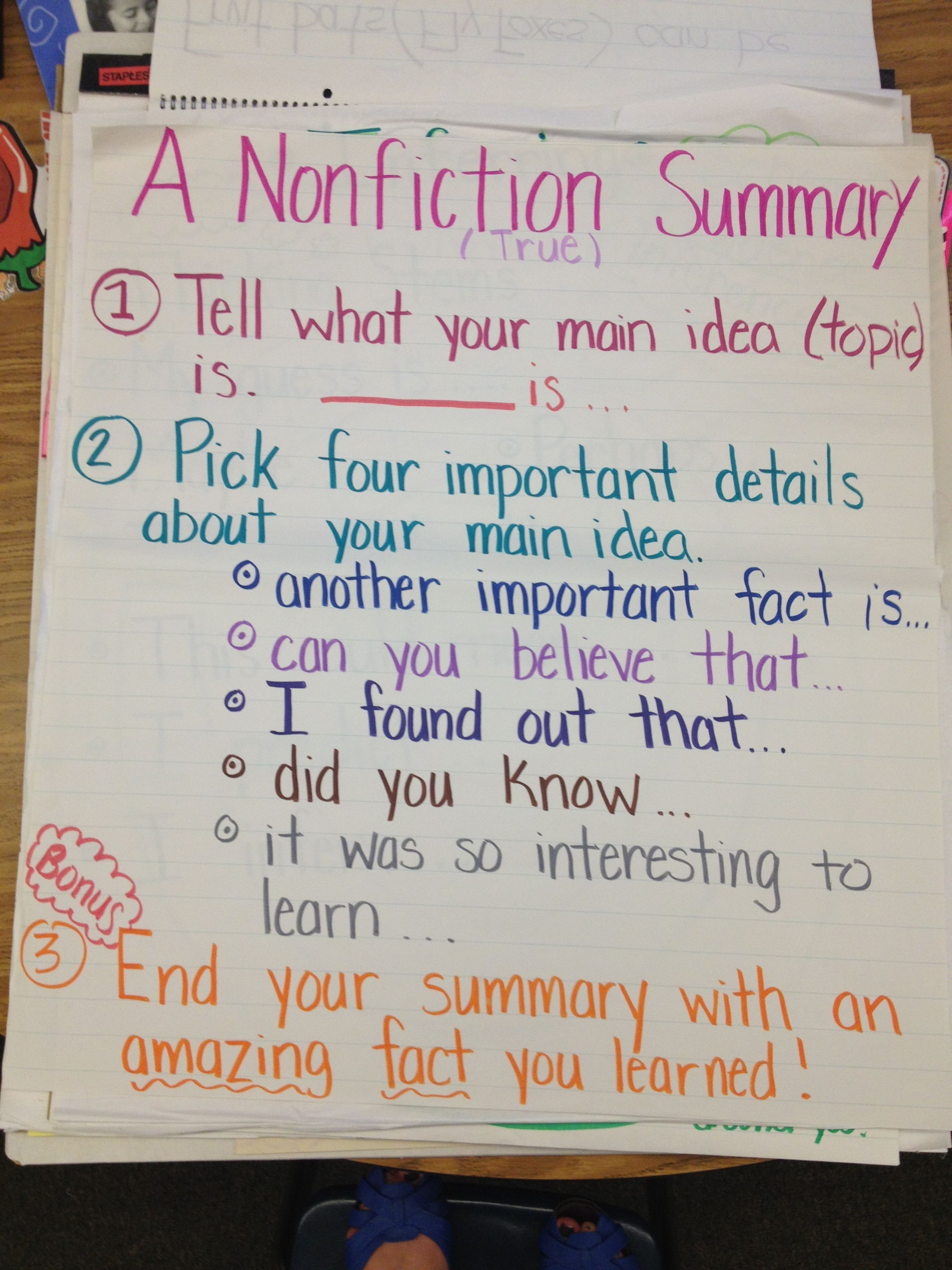 Nonfiction Summary Summaries Are Much More Difficult With Nonfiction