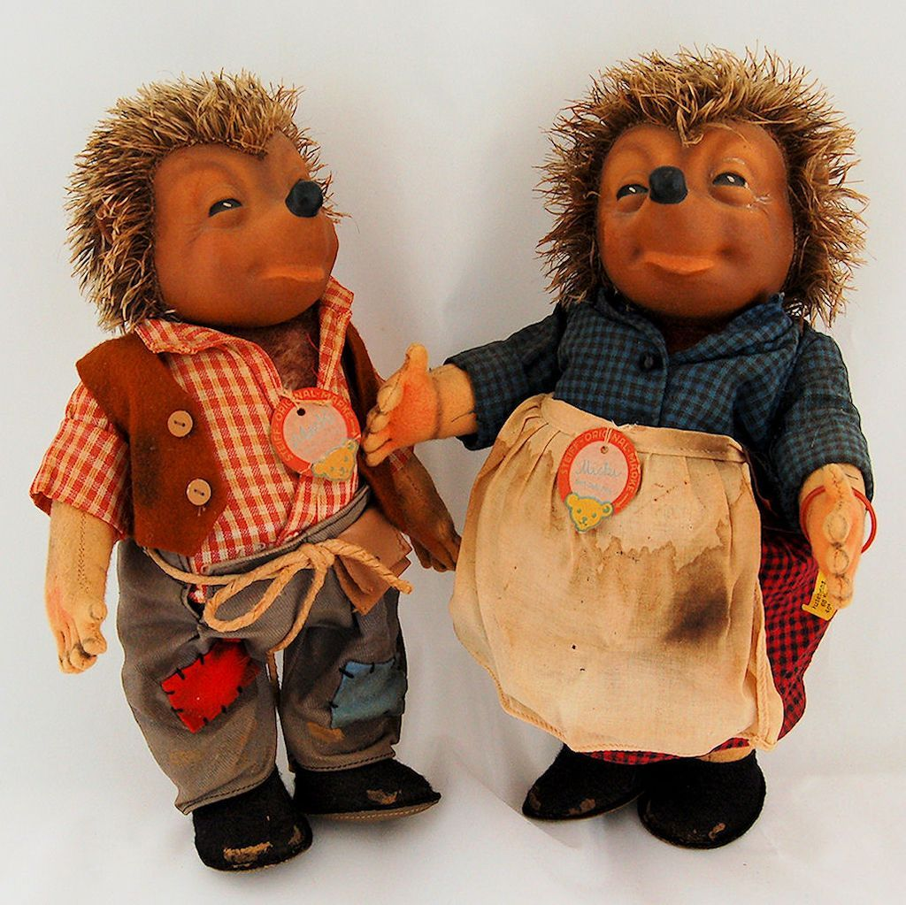 Vintage 1950's Steiff Original Micki and Mecki Hedgehog