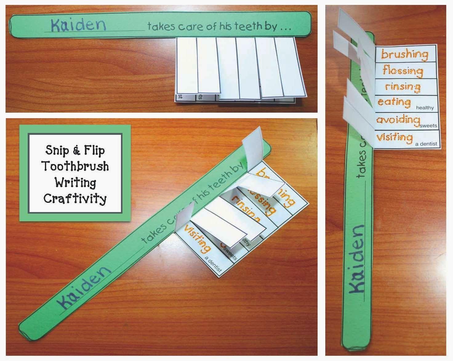 Toothbrush Dental Hygiene Writing Prompt Craft