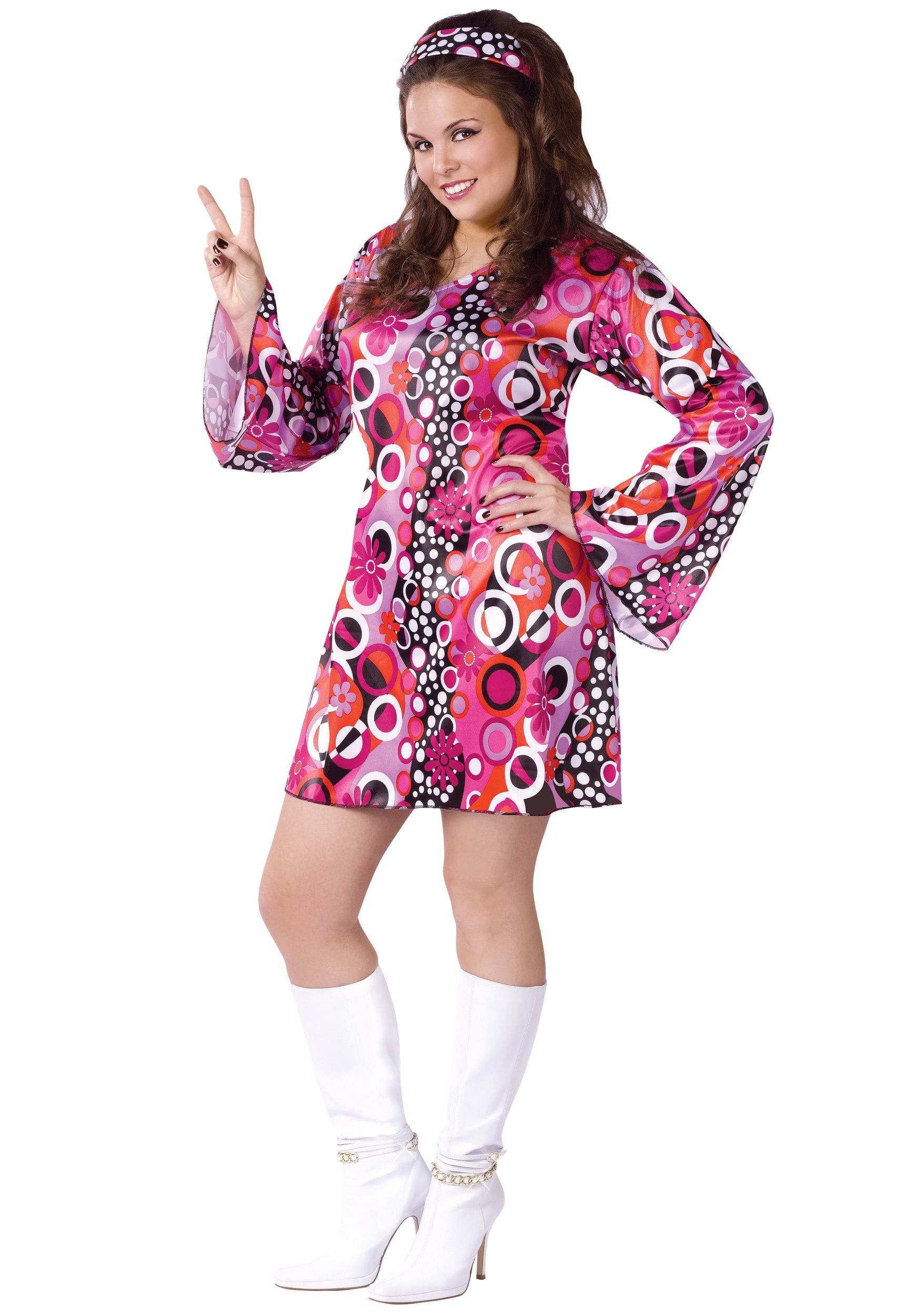 Plus Size Feelin Groovy Dress Plus Size Halloween