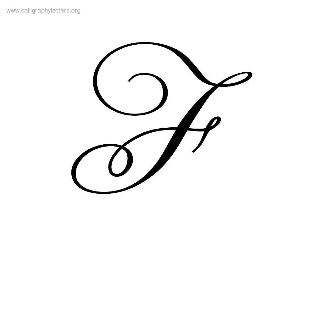 Cursive F