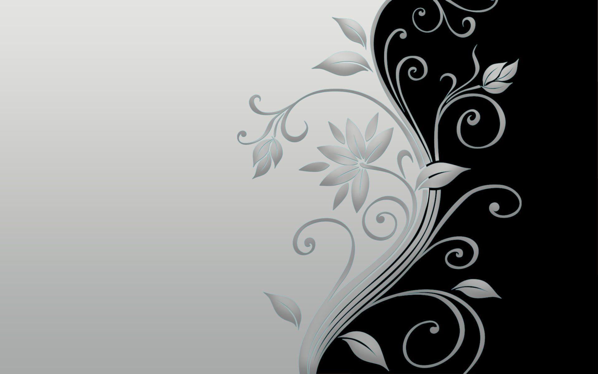Abstract Flowers Design HD Widescreen Desktop Wallpaper