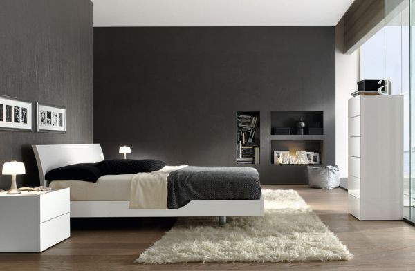 Impressive Gray Home Interiors For Elegant Black And White Bedroom Decor Ideas Shades