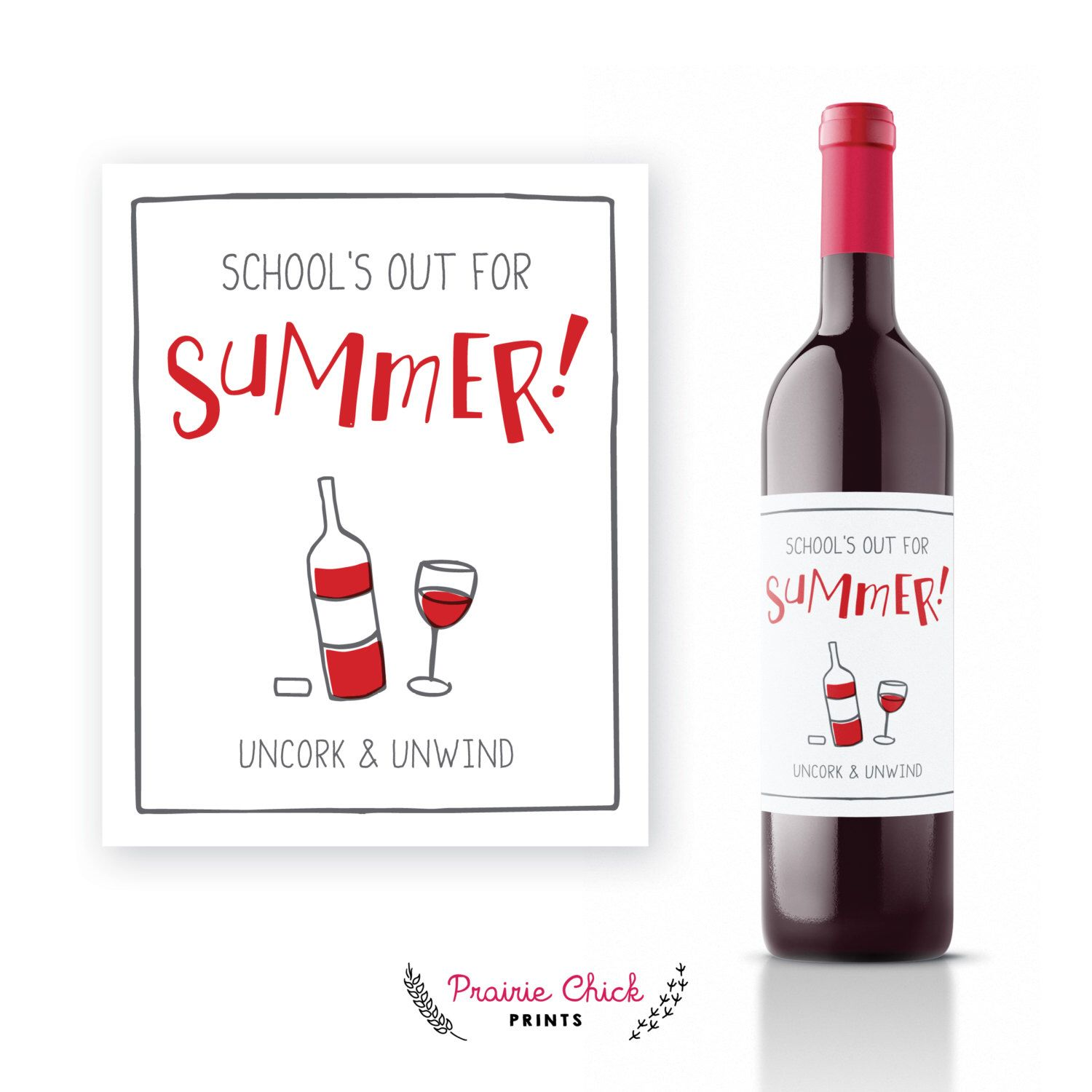 School S Out For Summer Uncork And Unwind Wine Label