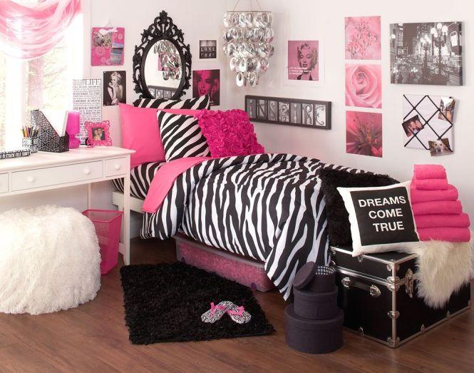 Bedroom Interior Ideas Zebra Deep Pink Theme Dorm Room Marilyn Monroe Lover Cool College Design Image Id 16536