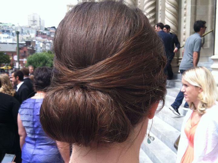 Low bun updo Wedding Hairstyles Pinterest