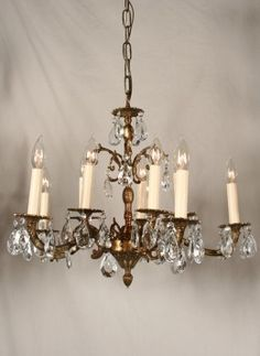 Spain Brass Chandelier Google Search Chandelierchandelier Crystalsvintage