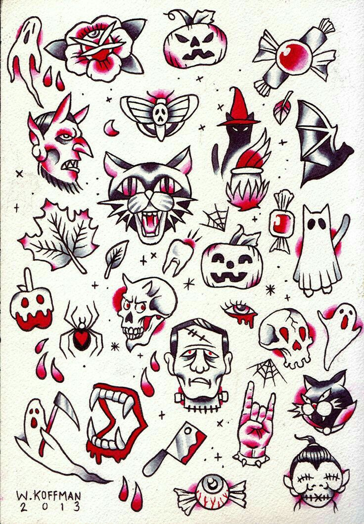 Halloween cluster life Pinterest Tattoo, Tatting and