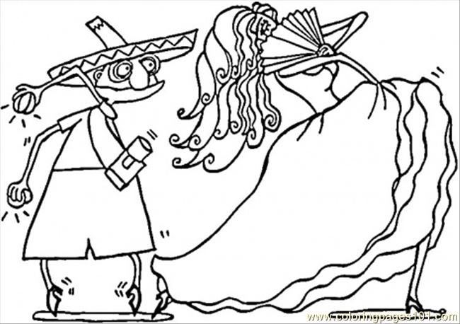spanish couple of dancers coloring page free printable coloring