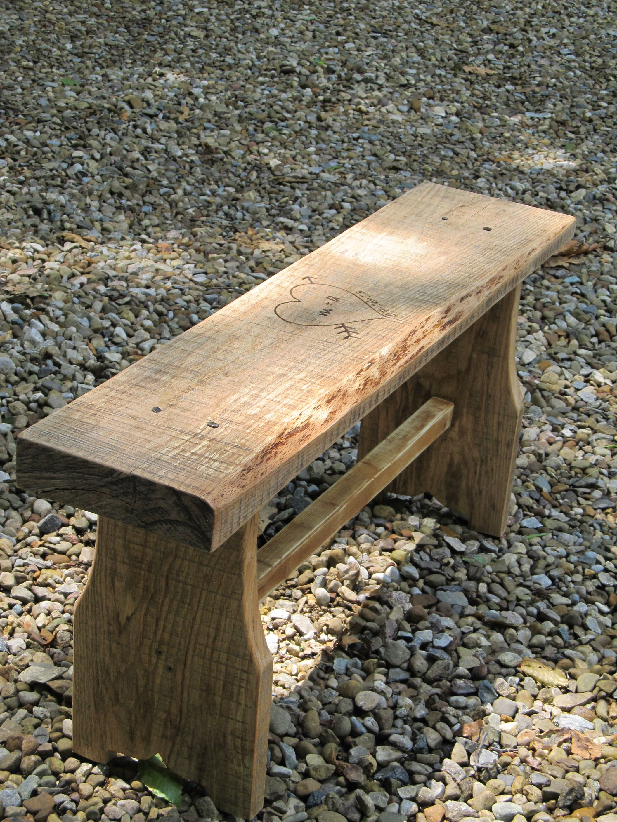 Build yourself a One Board Bench with an 8' 2x10, or mabey