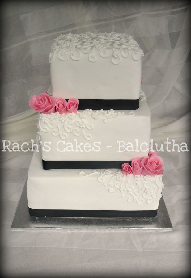 Square Wedding Cakes   Wedding Inspirations   Pinterest   Square     Square Wedding Cakes