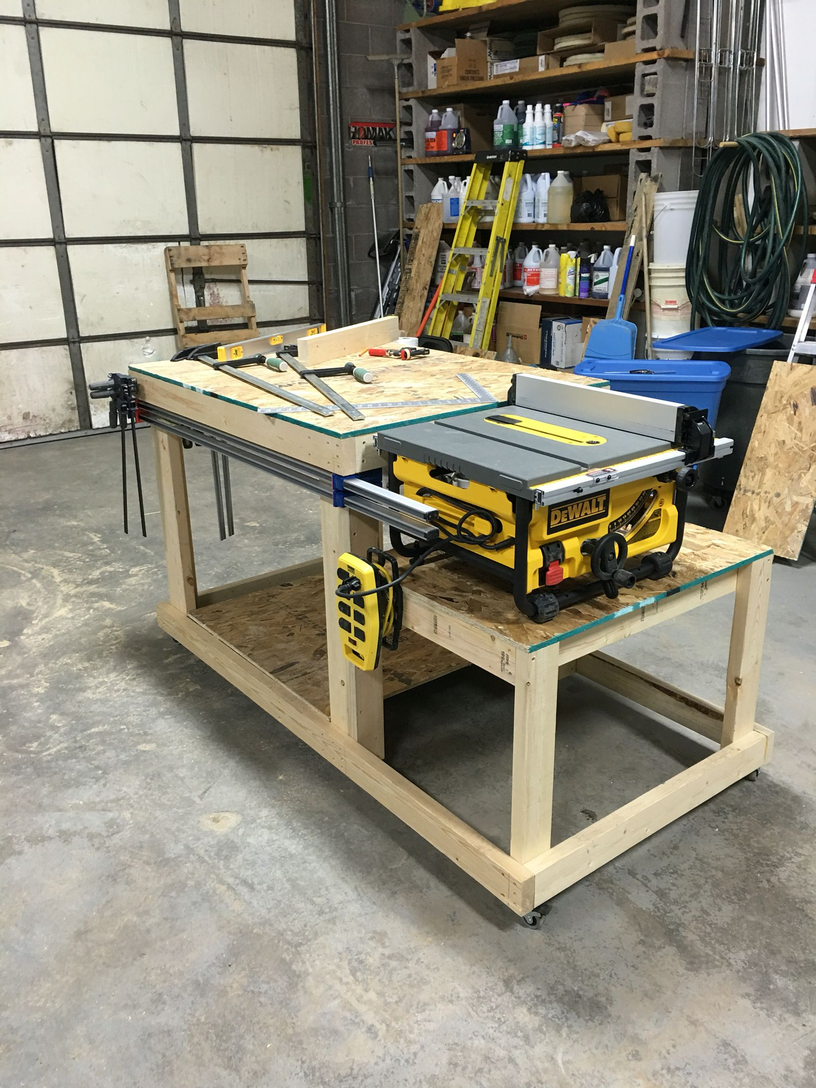 Workbench/Table Saw Bench Wood Shop Pinterest Bench