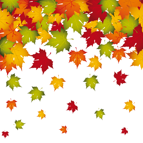 Transparent Fall Leaves Decoration PNG Image automne