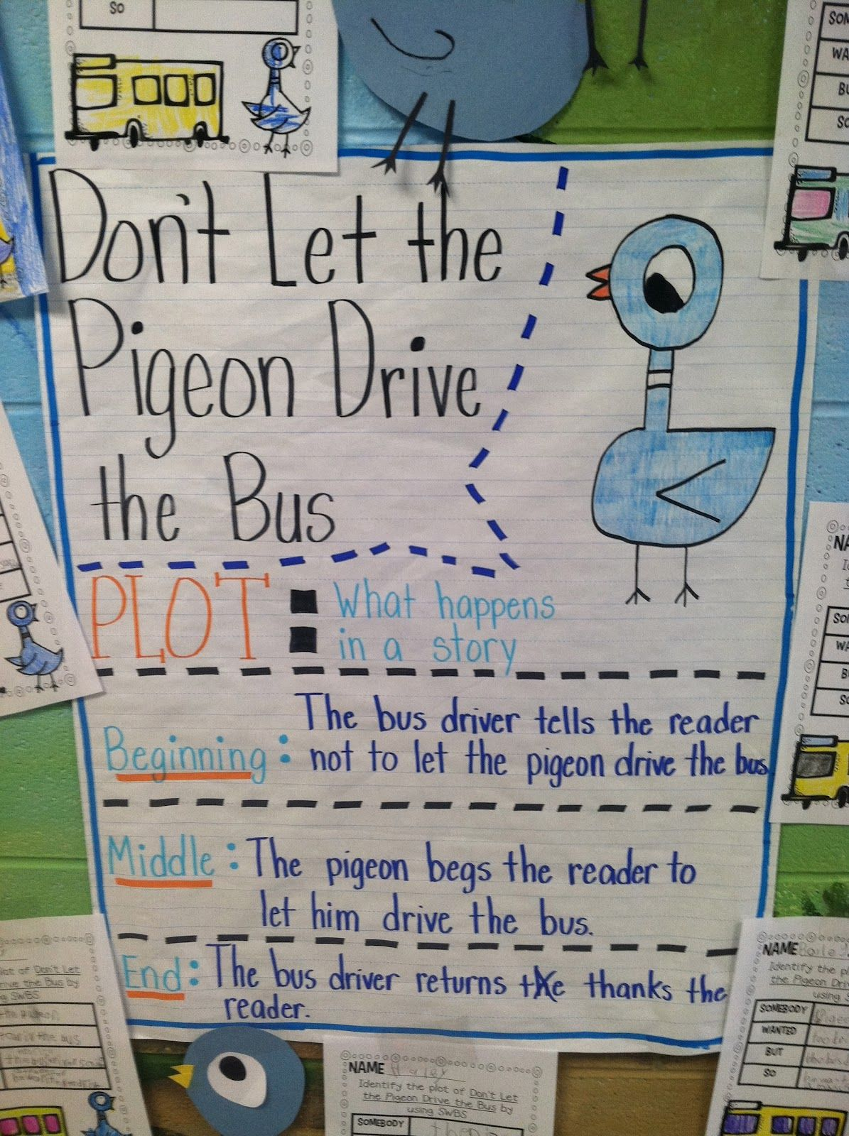 Plot Anchor Chart Thank You Life In First Grade