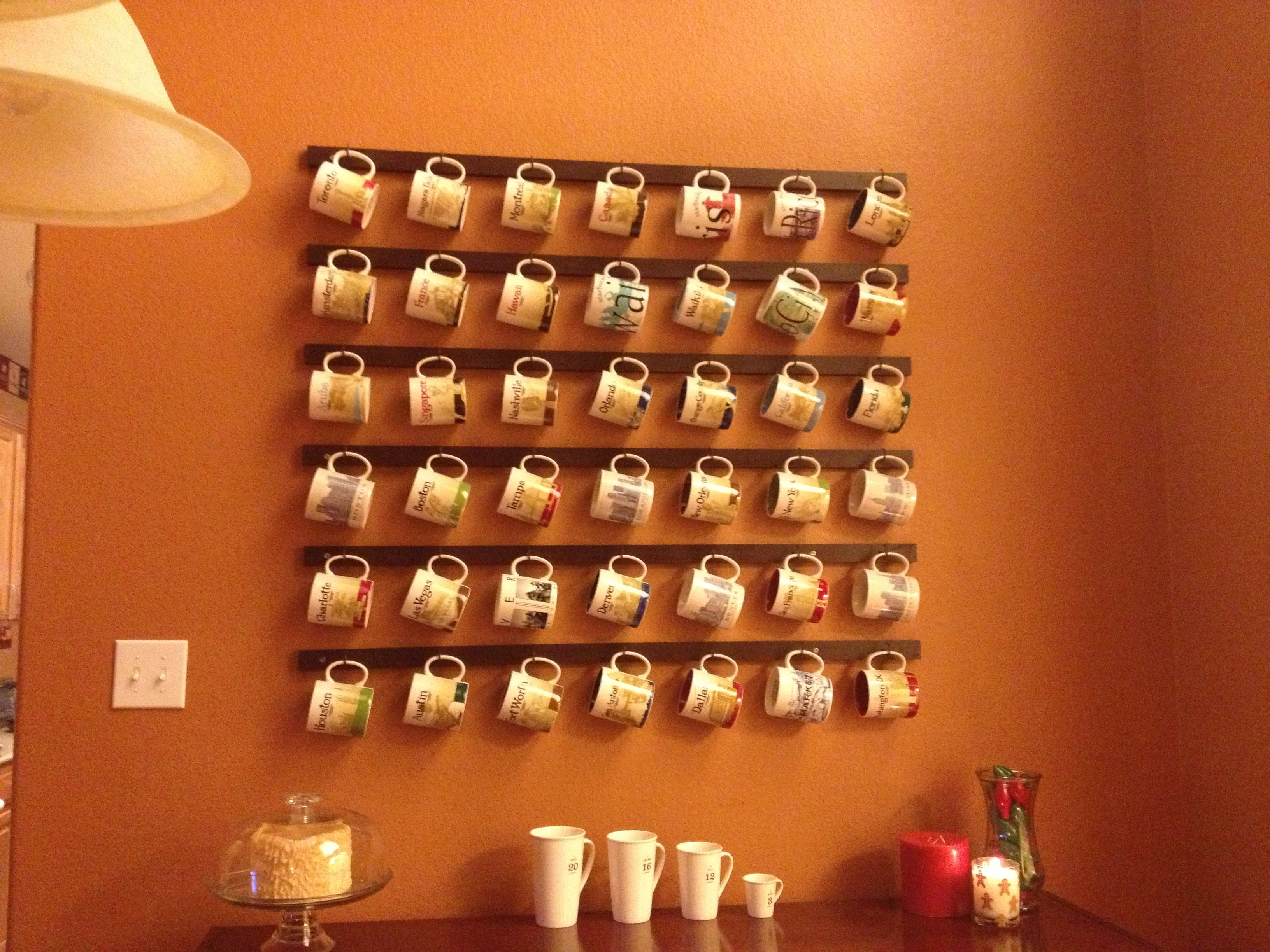 pinterest coffee mug shelves Coffee mug rack. DIY For