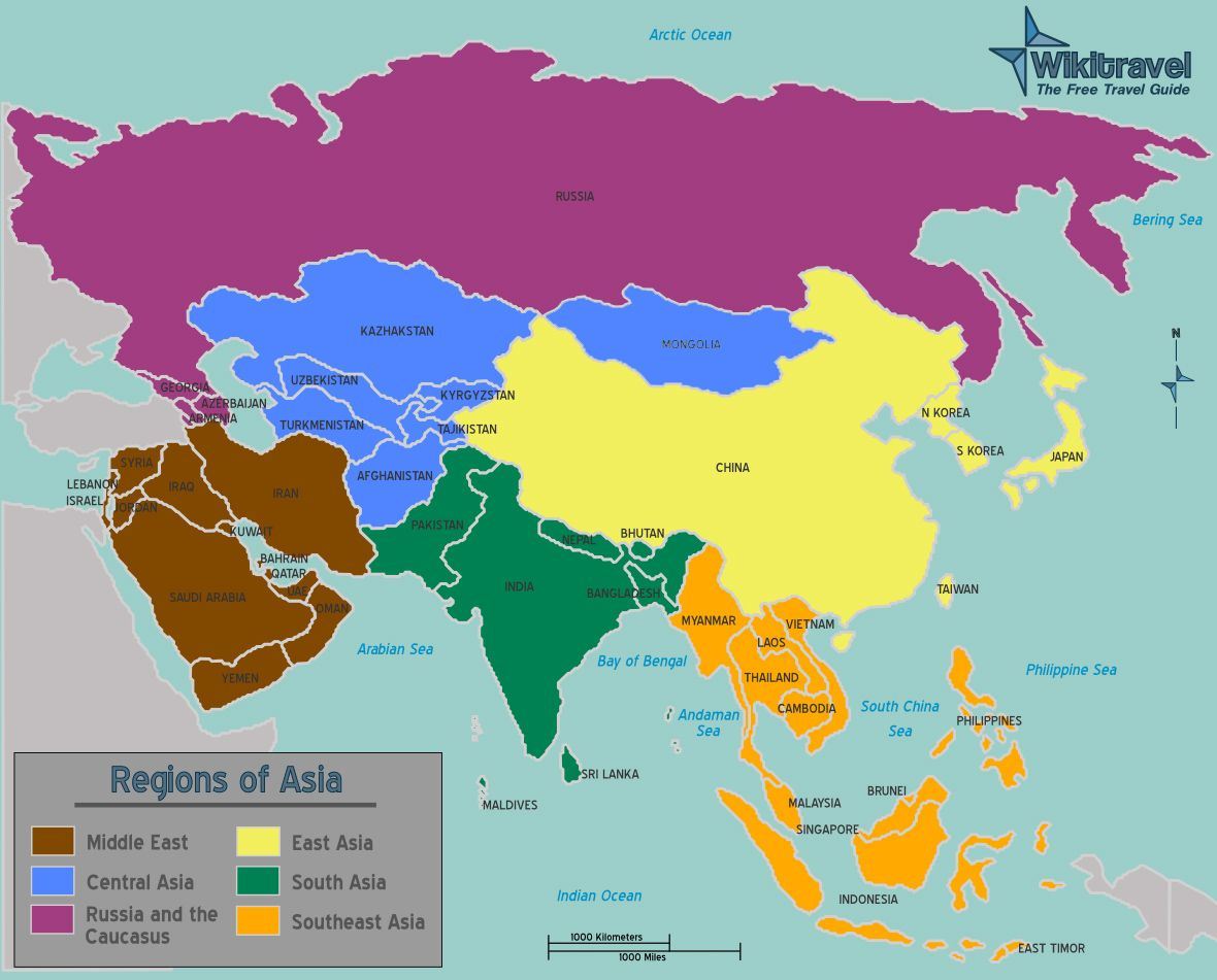 Regions Of Asia Map Australian Curriculum Geography