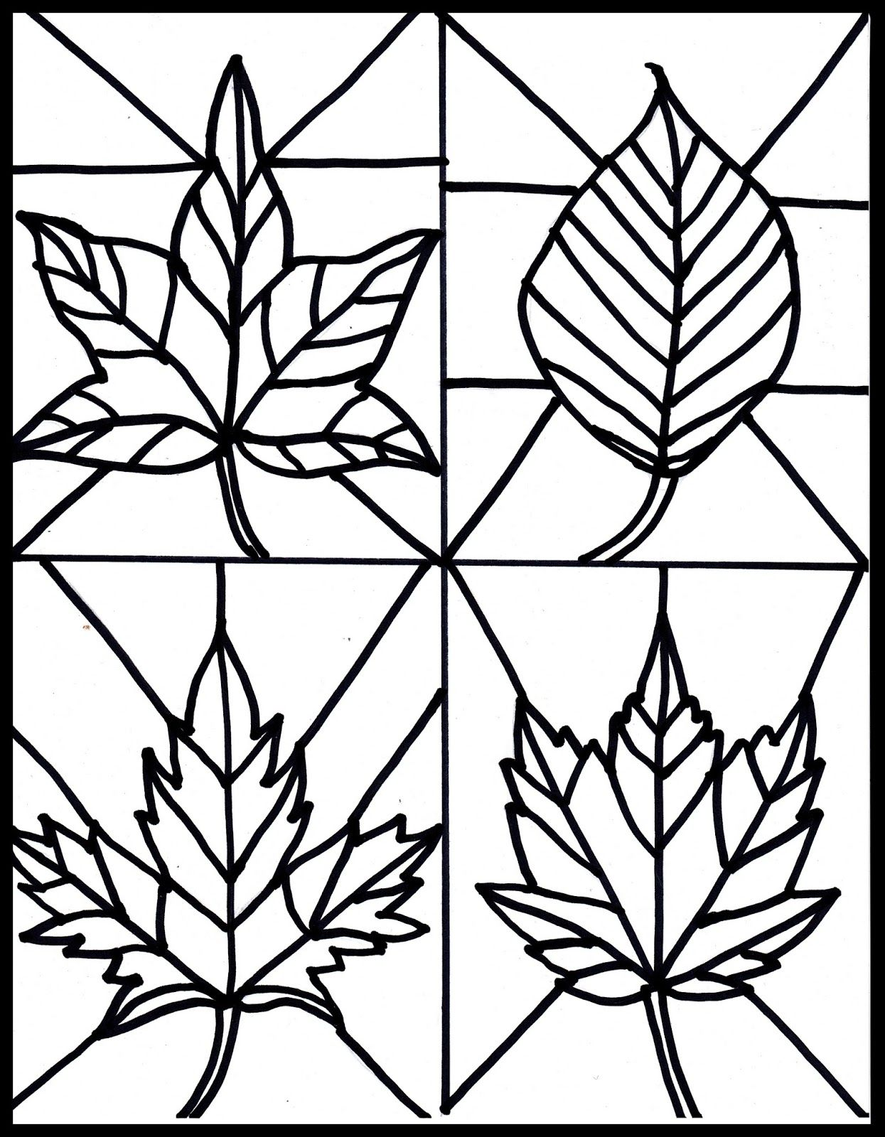 Make It Easy Crafts Kid S Craft Stained Glass Leaves Free Printable
