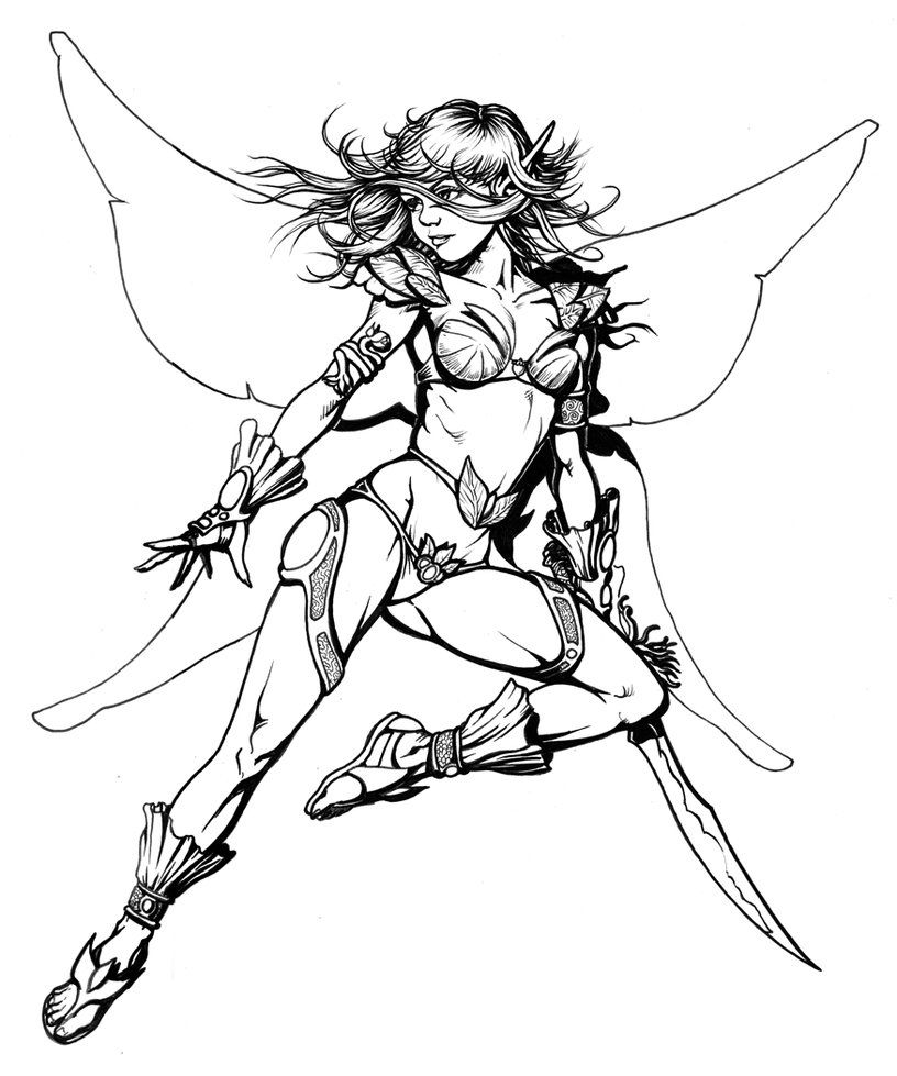 sexy fairy sketches drawings  deviantart more like color