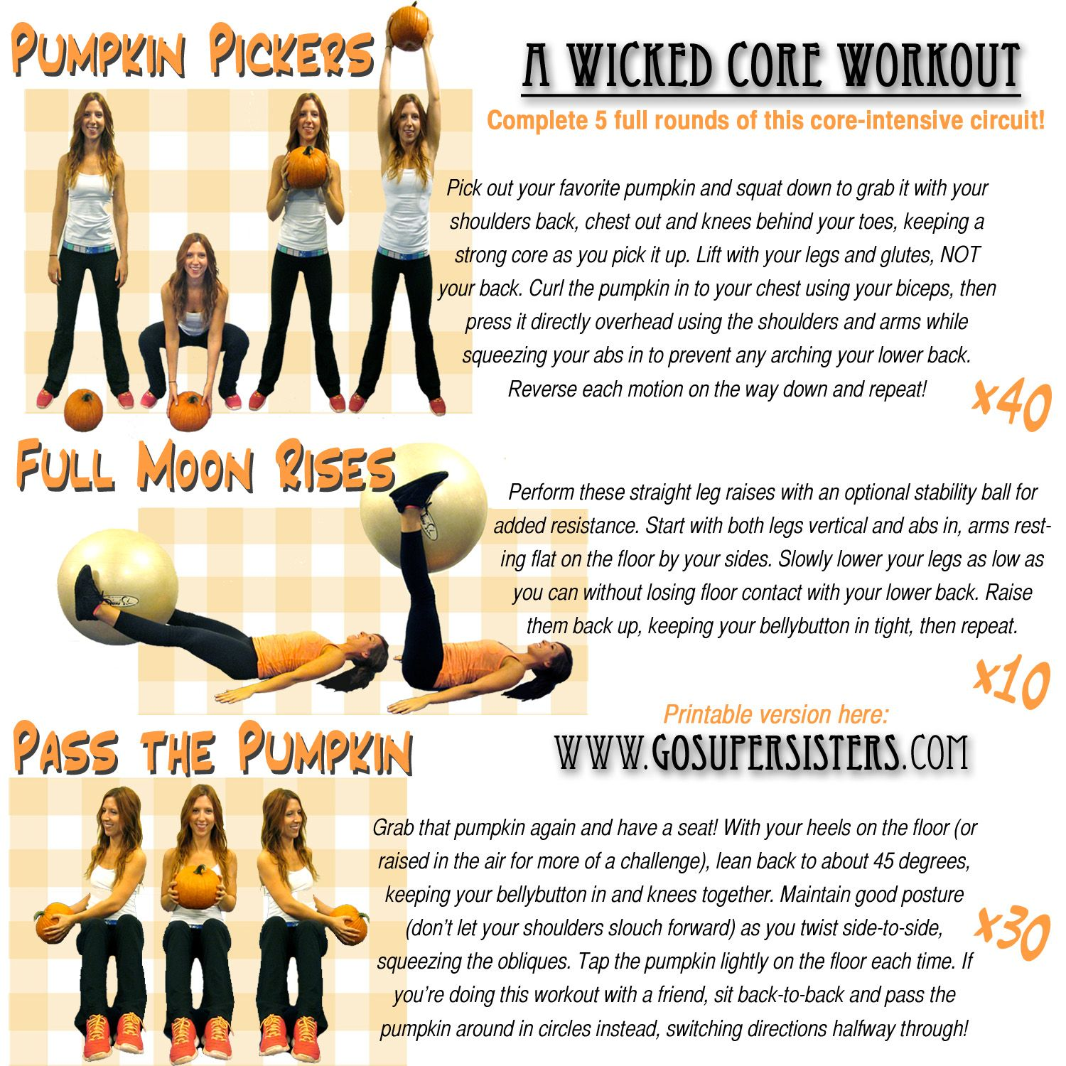 Abs Amp Core Workout From The Super Sisters Get More Workout