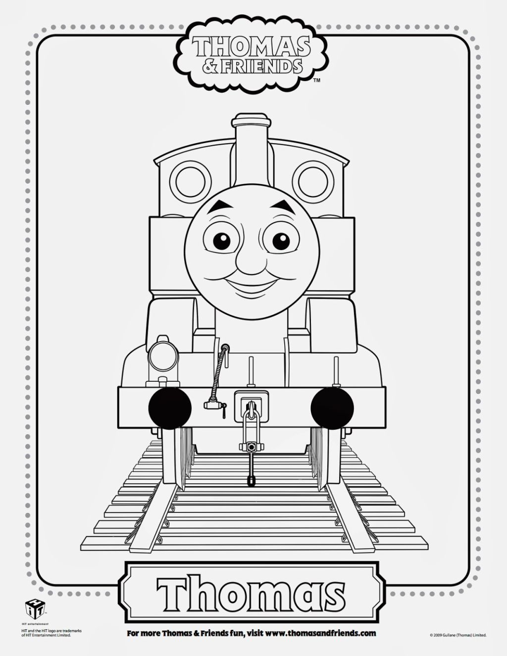 Thomas The Train Coloring Sheet Coloring Pages Pinterest