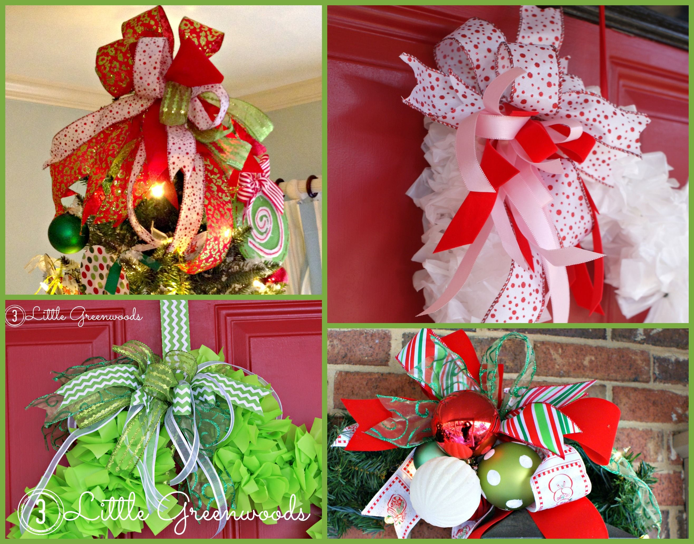 How to Make an Easy Bow for Wreaths and Door Hangers