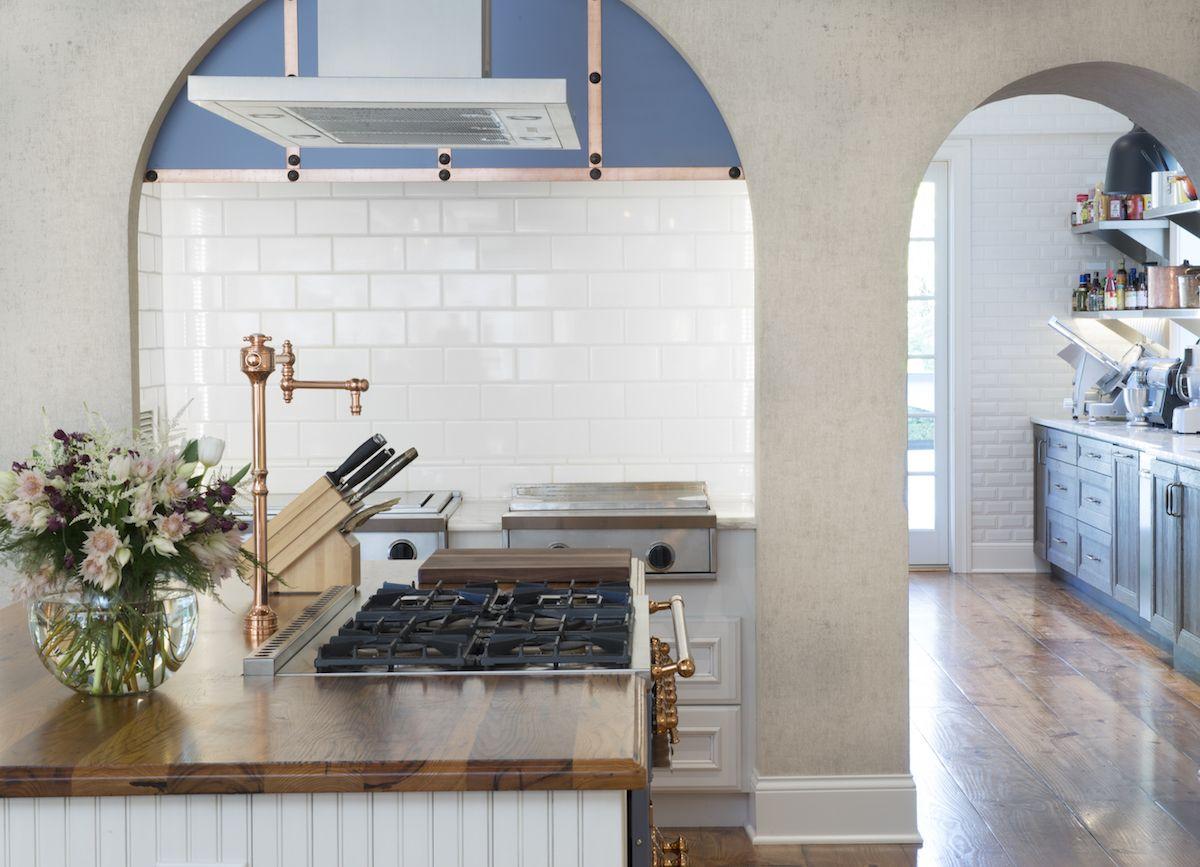 Best Kitchen Gallery: Two Kitchens White Durasupreme Cabi Kitchen With Provence Blue of Beadboard Kitchen Hoods on rachelxblog.com