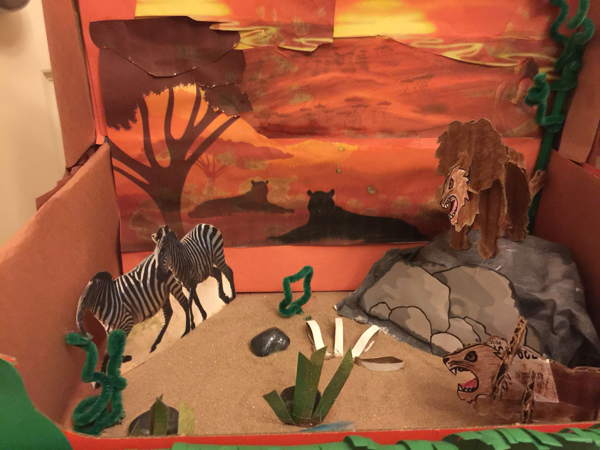 A lion's habitat..my son & I created this 3D project for