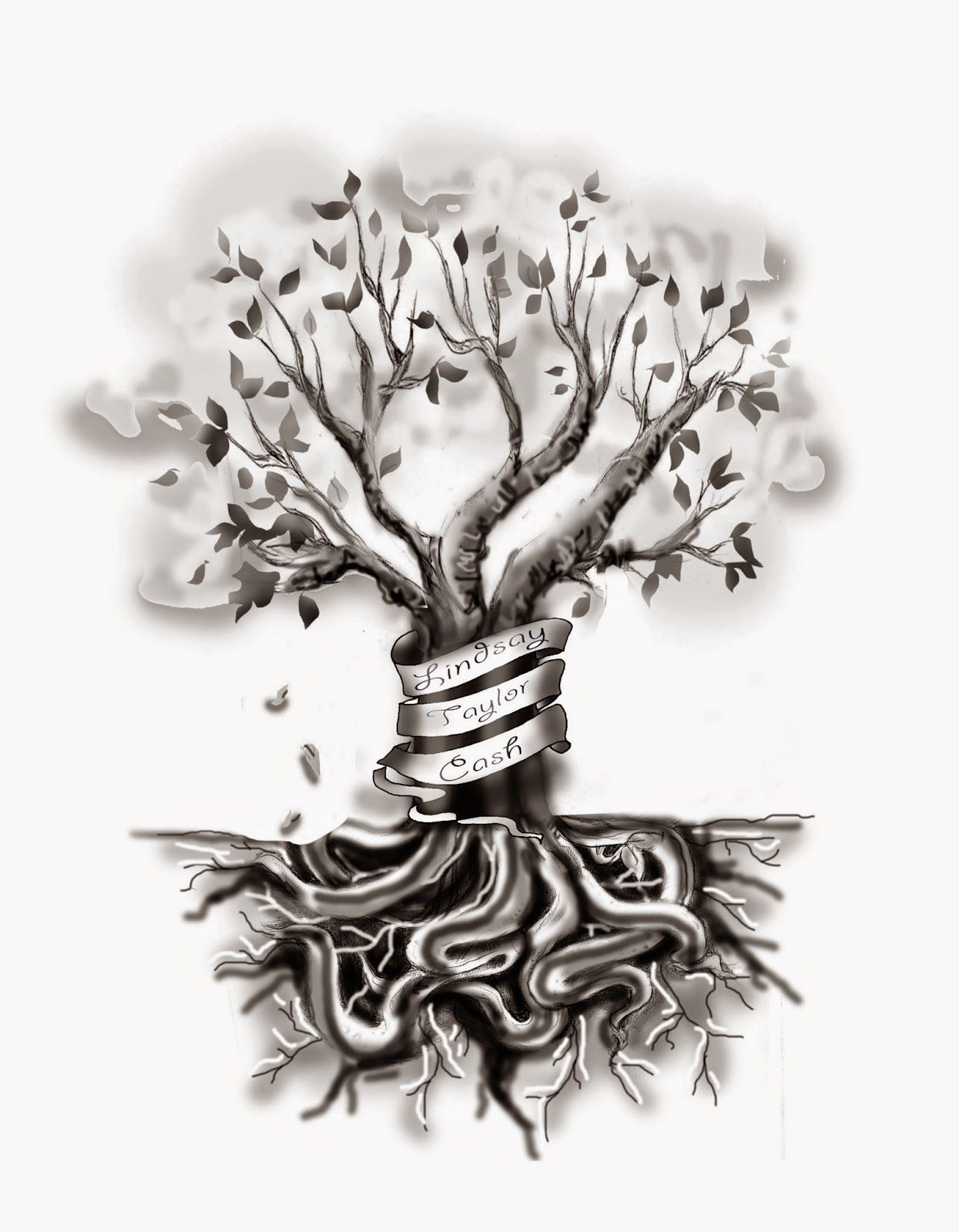 VeggieMuse Tattoos Custom Family Tree Tattoo Design