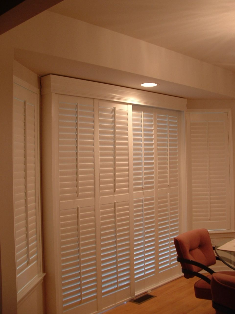 Indoor shutters on track system. Shutters Pinterest