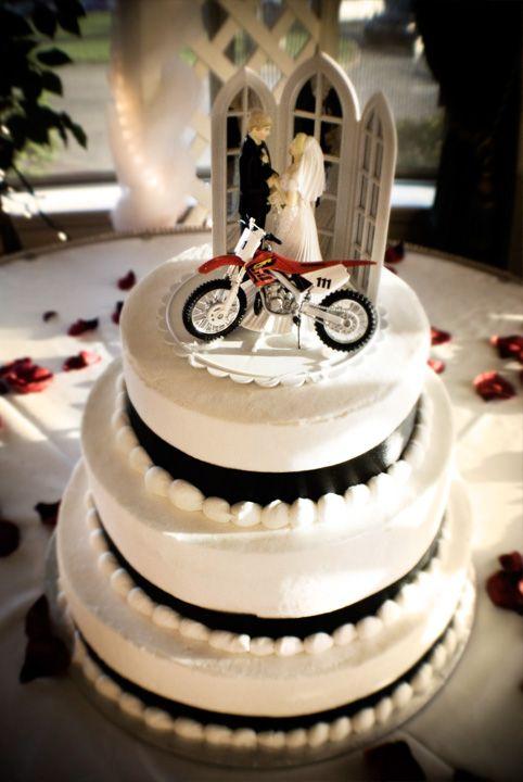 Motocross Wedding Dirt Bike Wedding Cake Their Favorite