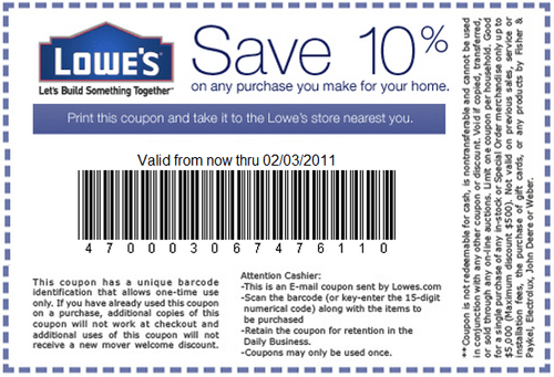 Lowes Coupon http//world wide