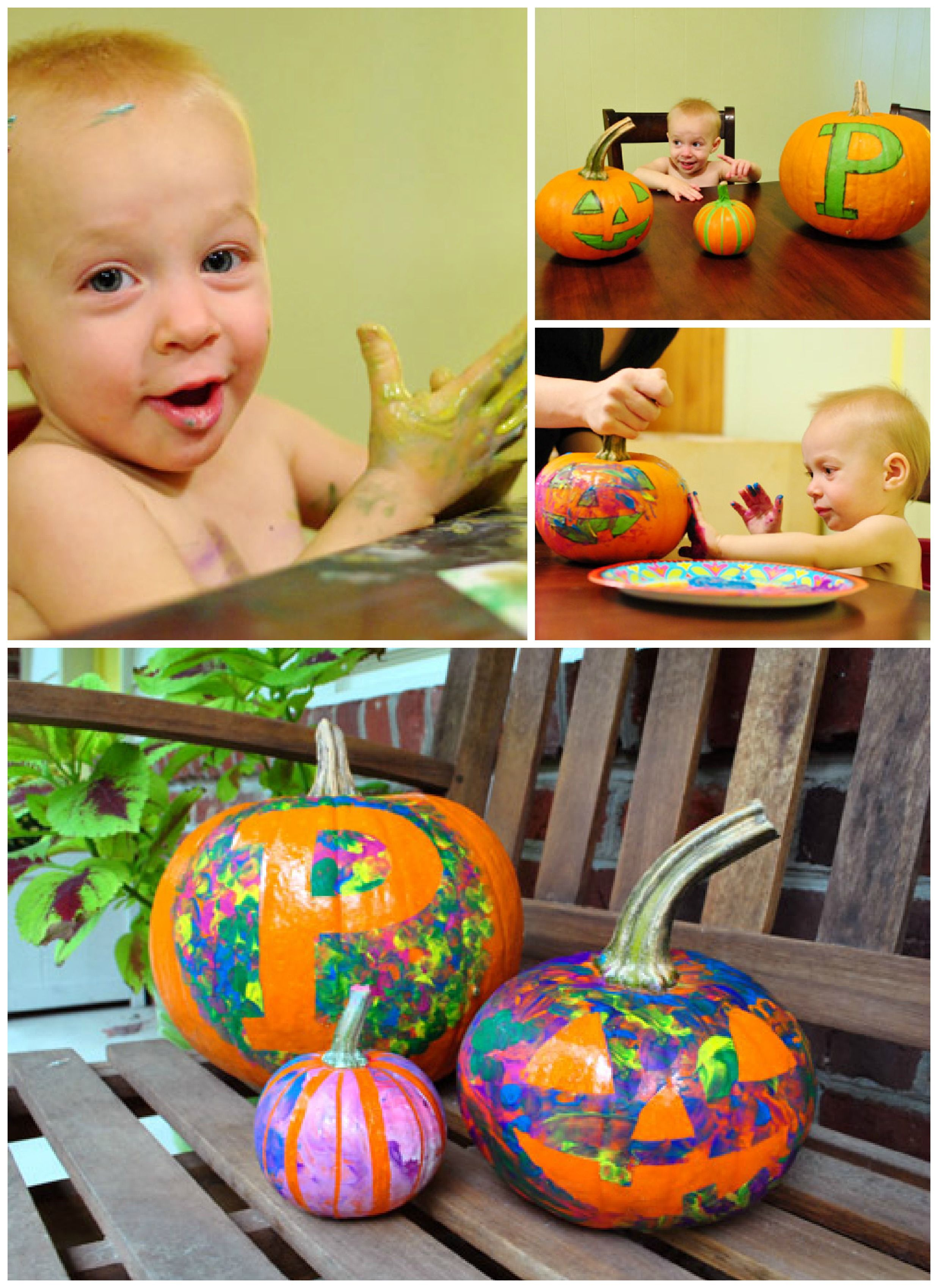 Toddler Friendly Carve Free Pumpkin Decorating Ideas