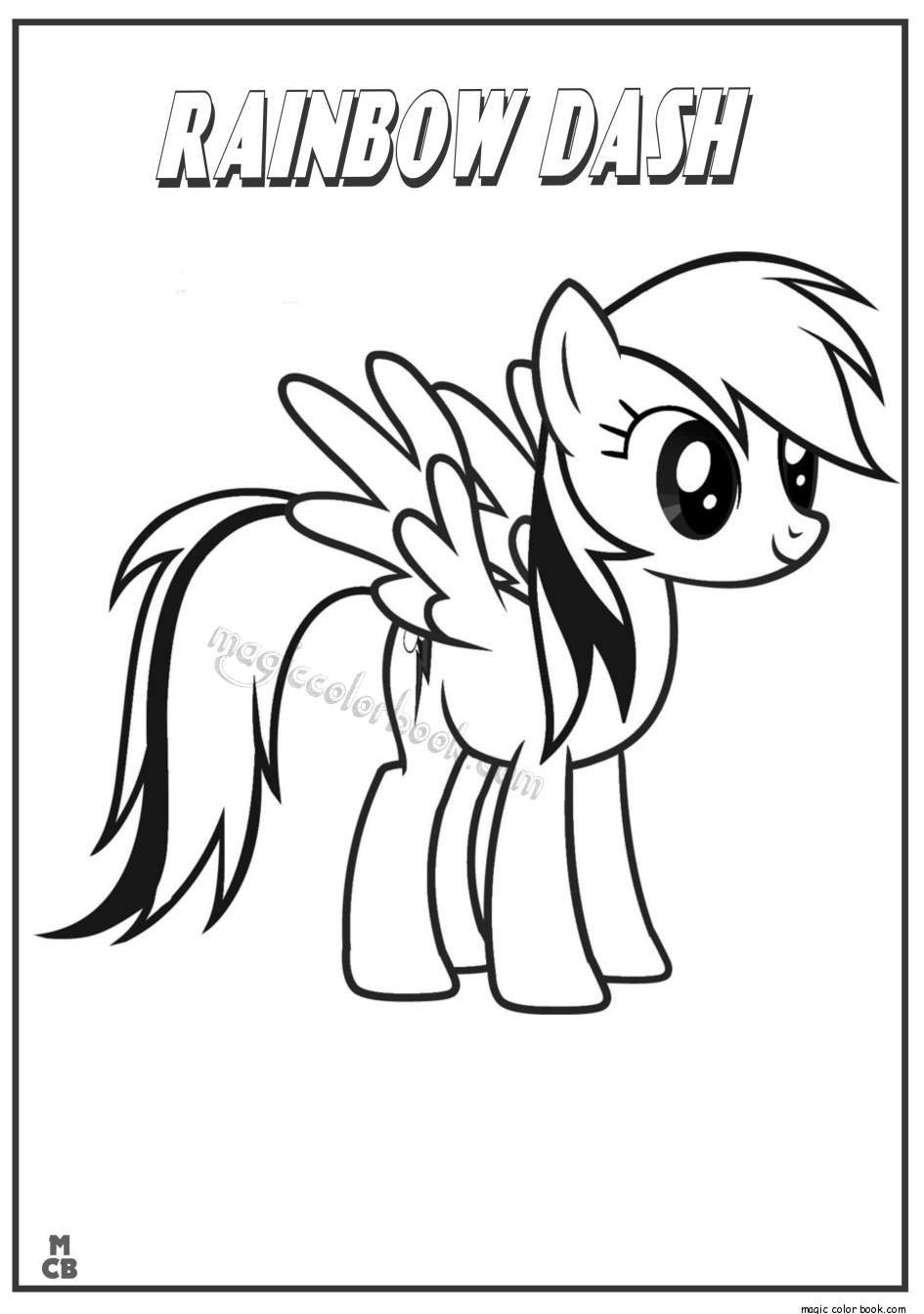 Pin By Magic Color Book On My Little Pony Coloring Pages Free