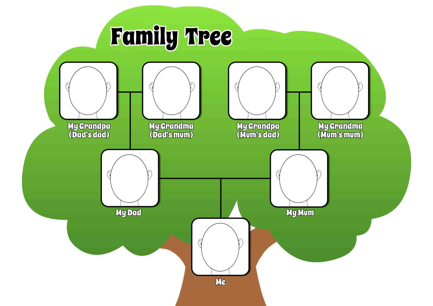 Printable Family Tree Page To Complement Any Lesson