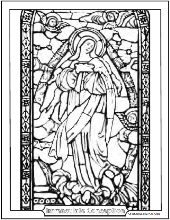 3 Immaculate Conception Coloring Pages + + Immaculate