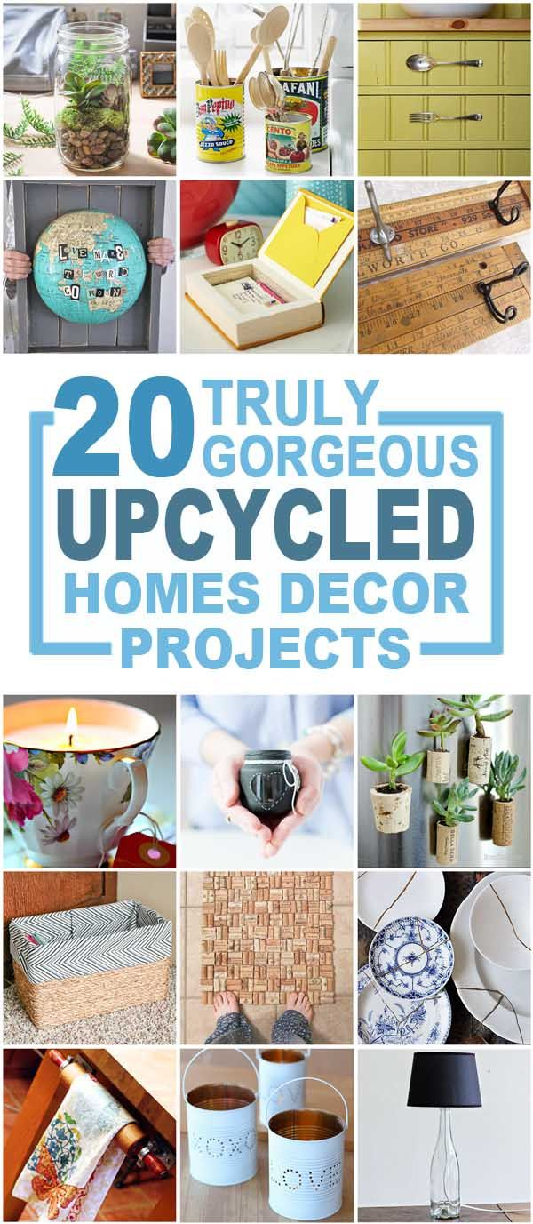 20 Truly Upcycled Home Décor Items You Can Make