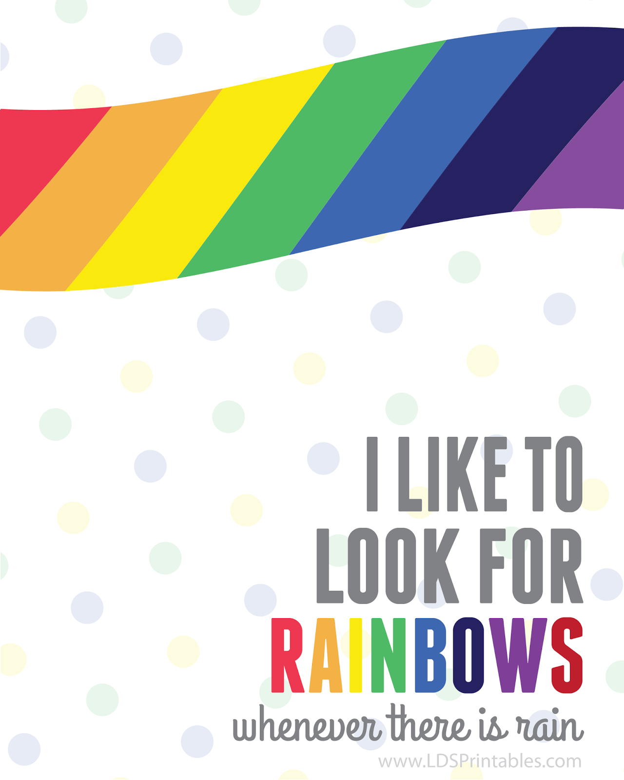 I Like To Look For Rainbows Free Printable Also Available In Spanish