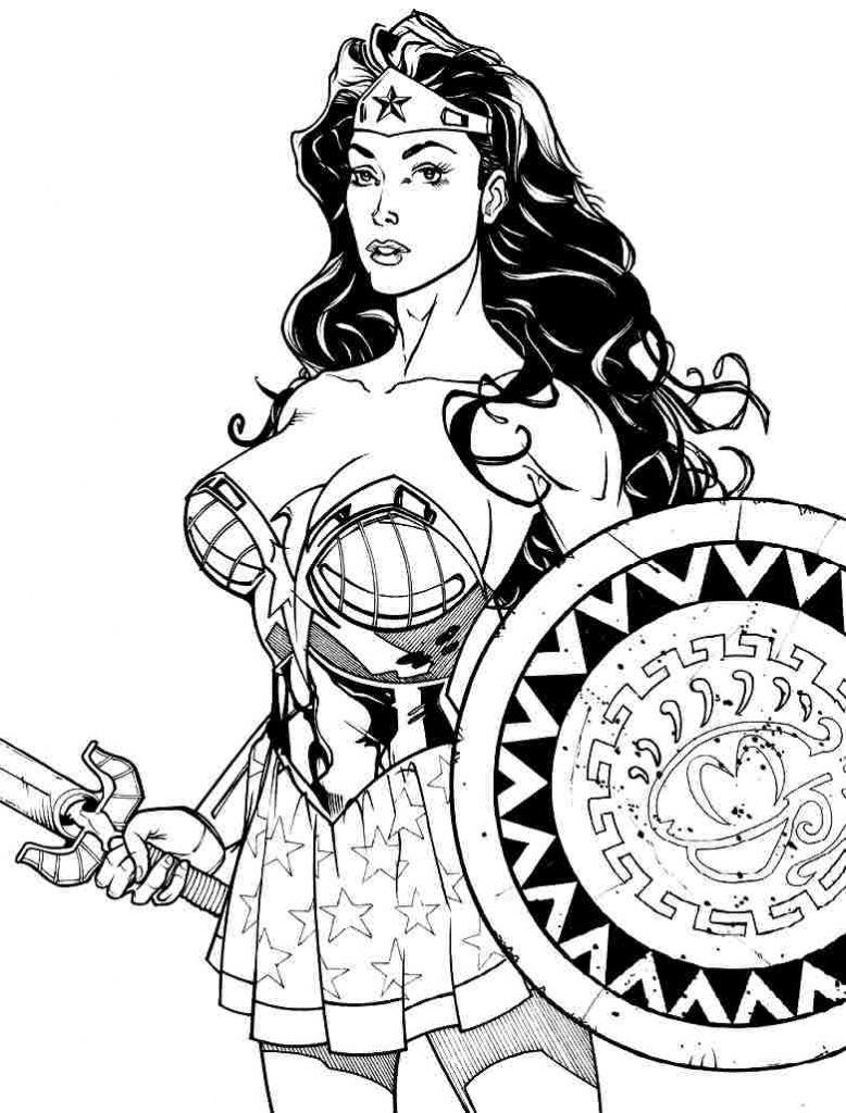 Download Coloring Pages, Wonder Woman Coloring Pages Free