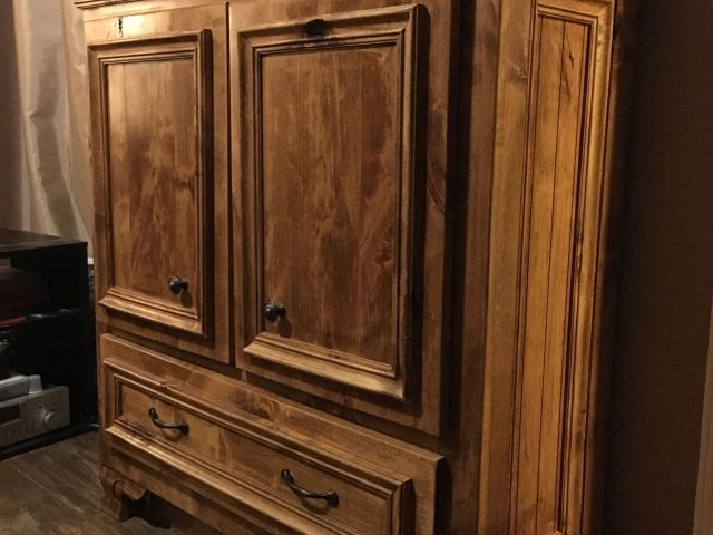 Pistol Cabinet Rustic Guns secret storage DIY Farmhouse Bedroom
