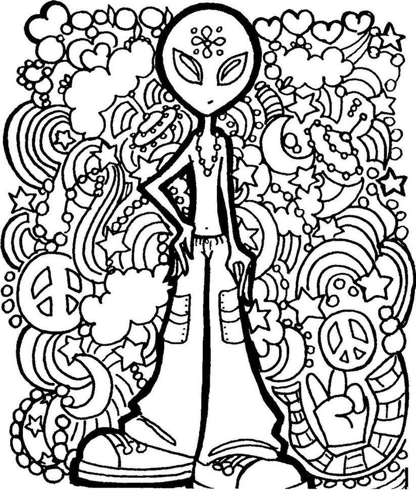 trippy coloring pages printable  trippy colouring pages