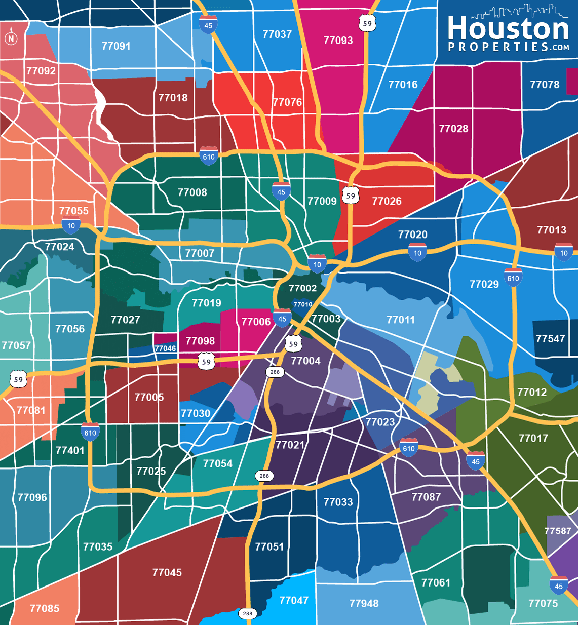 Houston Zip Code Map Great Maps Of Houston Pinterest