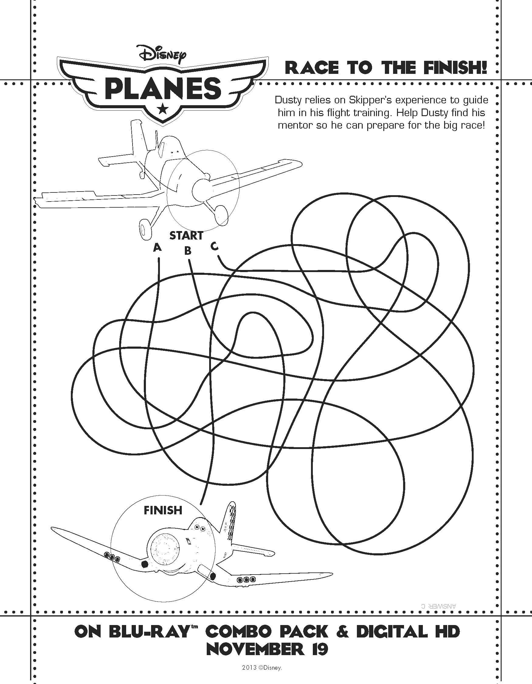 Disneys Planes Activity Sheet