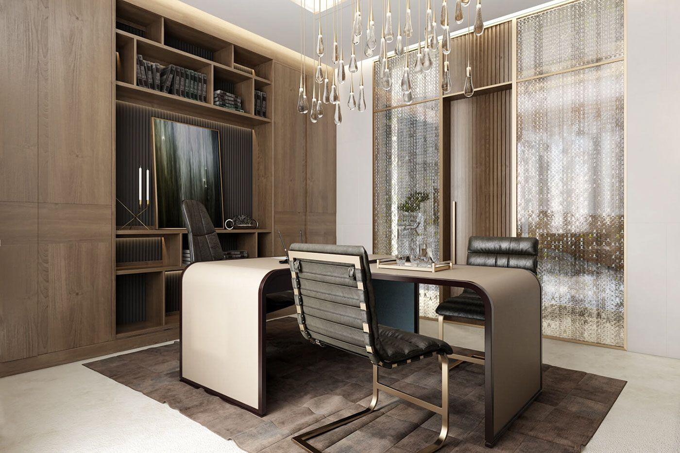 CEO Office Design Architectural Rendering by ArchiCGI on