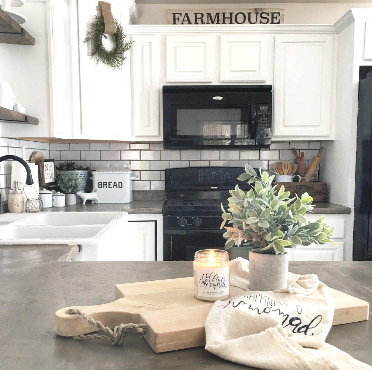 Farmhouse kitchen The Little White Farmhouse Blog